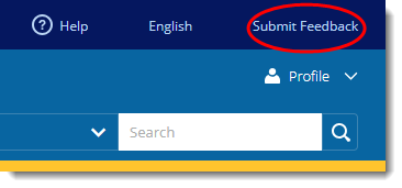 Submit Feedback button